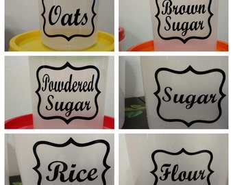 Kitchen Canister Labels | Your Choice of 6