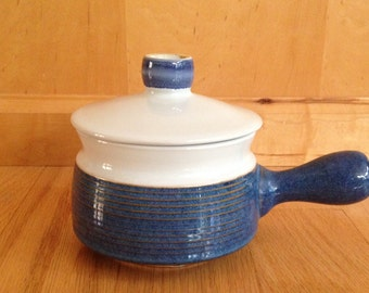 vintage pottery crock with lid