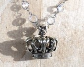 40% OFF SALE - Use Coupon Code - MAY40 - Sterling Silver Crown Pendant / Hand Cast