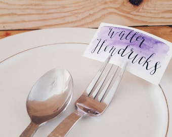 Personalized Handwritten Modern Calligraphy WEDDING Place Cards