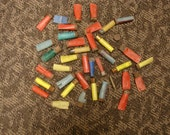 Weathered empty shotgun shells & misc ammo brass shell. Craft supplies. lot of 39 pieces