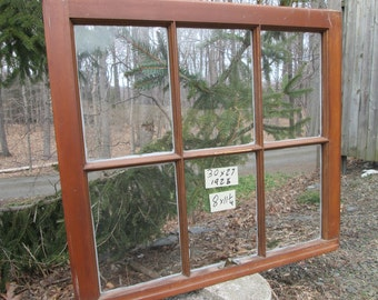 30 x 27 Vintage Antique Window sash old 6 pane from 1925 Arts& Crafts