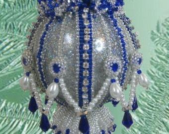 Beaded Christmas ornament kit - Ruffles