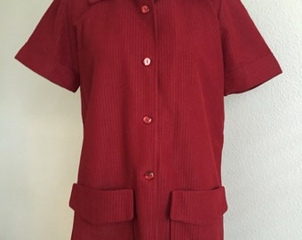 Wool Shortsleeve Red Top