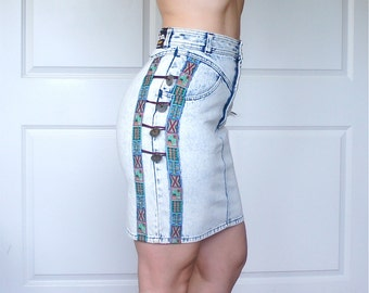 Dont Stop Denim High Waist Skirt