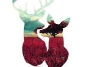 Dear Deer Portrait - Wedding - Annivesary - Couples - Husband - Wife - Buck - Doe - Hunting - Southern
