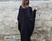 Black Maxi dress, Plus size clothing, Abaya Maxi dress, Plus size dress, Caftan, Long dress