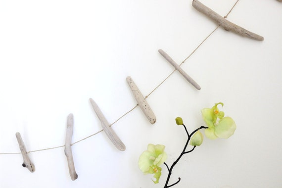 Driftwood Hanging Garland -- 5.4 Feet Long -- Rustic Natural Home Decoration -- Ready to ship