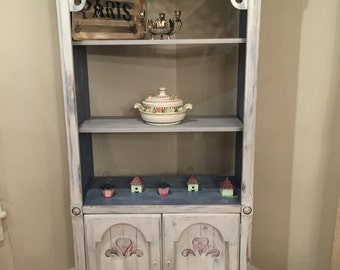 Piece of My Heart Rustic shelving storage hutch