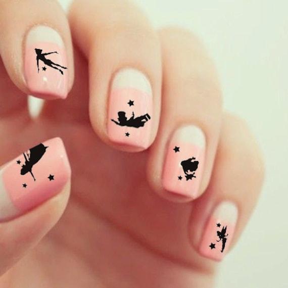 Peter Pan Nails: 20 Peter Pan Waterslide Nail Decals/Transfers By
