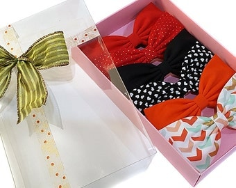 "EmilyRose Couture Hair Bow Gift Set- Premium Gift Box- ""One for All"" Gift Set- Set of 6 Hair Bows-"
