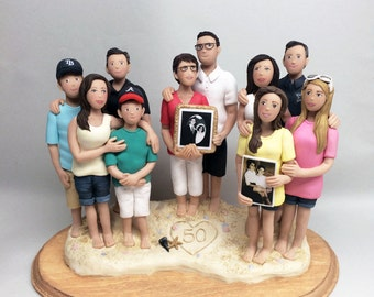 Custom Family Sculptures and Cake Toppers from your Ideas and Photos