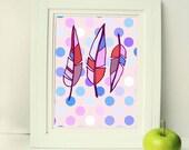 Feathers Set of 2 Art printable women gift Printable Art animal nursery print, boho print wall art