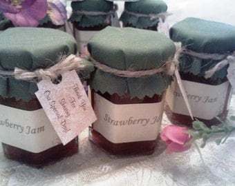 Fall Wedding Jam Favors /2 Oz Size Jams/ Your Flavor Choice/50 Custom Party Favors/ Shower Favors/ Custom Label & GIFT Tag Included