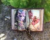 Vintage Flower Fairy Open Book - Dollhouse Miniatures