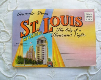 Saint Louis Postcard folder