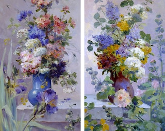 Classic Toofer- Summer Flowers by Eugene Henri Cauchois