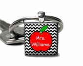 Personalized Teacher Pendant keychain-- key chain, unique keychain, apple keychain, teacher appreciation,teacher gift, teaching assistant
