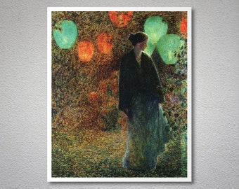 July Night  by Childe Hassam  - Poster Paper, Sticker or Canvas Print