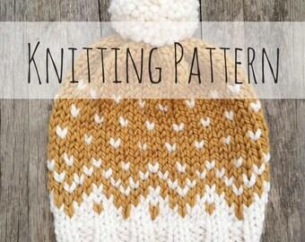Mountain Toque, Knitting Pattern, Fair Isle, Fair Isle Knit Hat, Chunky Fair Isle, Knit Hat, Knit Hat Pattern, Pattern, Knit Beanie Pattern