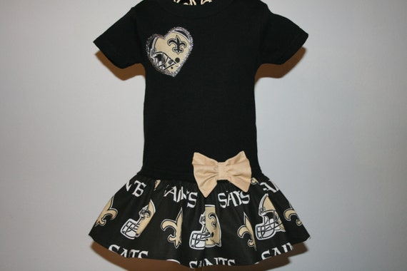 Baby Girls 12 mo NEW ORLEANS SAINTS Tshirt Dress Infant