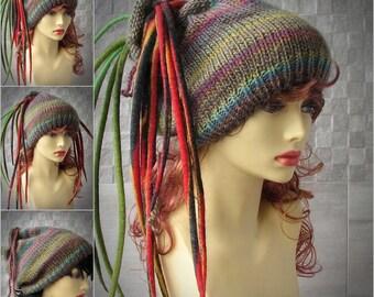 EXPRESS Shipping, Unique Dreadlocks headband, dreads wrap dread tube Tam Hat for Dreads Colorful Knitting Headband