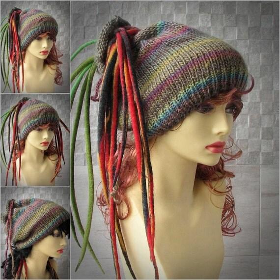 Unique Knitted Dreadlocks hat dreadlocks beanie Winter Accessories simple dreadlock tam hippie hat