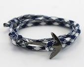 Nautical Bracelet - Anchor Bracelet - Mens Anchor Bracelet - Mens Bracelet - Paracord Bracelet - Paracord - Rope Bracelet - Mens
