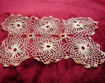Vintage Hand Crocheted Doily Set