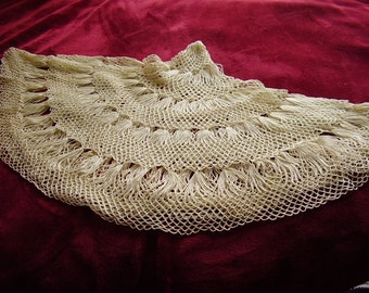 Vintage Hand Crocheted Table Scarf/Doily