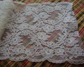 1980's Vintage Chantilly Lace, By the Yard