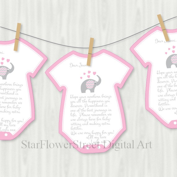 Elephant baby shower decorations games advice printable - Deco pour baby shower ...