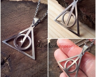 Harry Potter INSPIRED jewelry - NEW Deathly Hallows Necklace - Stainless steel necklace