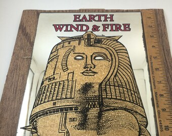 Earth Wind Fire mirror Pharaoh 70s soul funk band musical decor fair prize band collectable