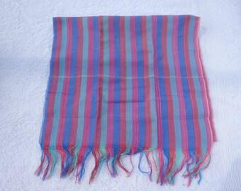 Traditional Cambodian/Khmer cotton Krama/scarf  multi-coloured