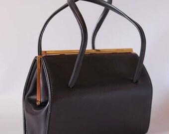 Vintage 1950s classic handbag, vintage Kelly bag