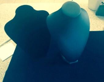 10 black felt and vinyl busts used