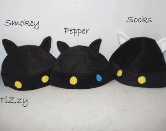 Black Kitty Fleece Hat - Pepper, Socks - Neko Atsume Inspired