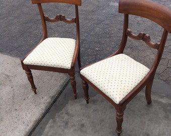 Pair of mid century accent chairs...shipped by Greyhound FREE
