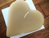 Heart Candle - Valentines Day, Heart, Love, Beeswax, Natural, Cotton