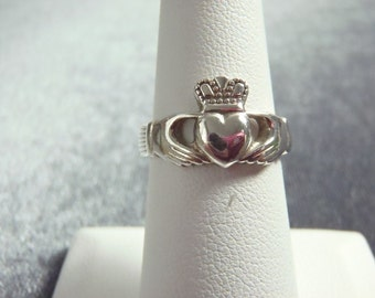 Sterling Silver Solvar Claddagh Ring Sz 6 R236