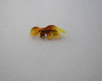 Retro Plastic Turtle Brooch