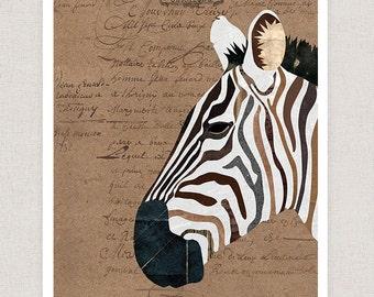 Zebra Art Print - Poster Print - Home Decor Wall Art