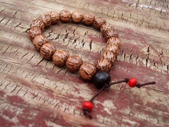 Mala Bracelet, Mala Beads Bracelet, Prayer Bracelet, Wood Bead Bracelet, Yoga Bracelet, Meditation Bracelet, Healing Bracelet, Wrist Mala