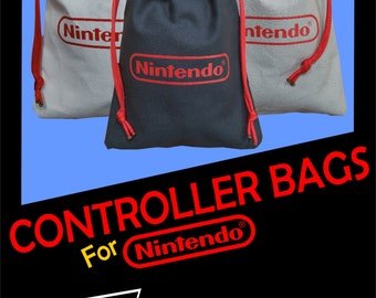 Nintendo NES pull string controller bags
