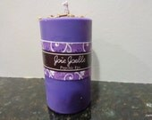 Psychic Eye Purple Spell Ritual  Candle, Herbal Spell Candle, Spiritual Spell Candle, open third eye chakra, opening psychic abilities