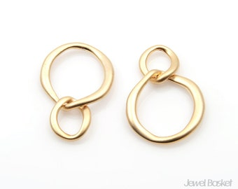 Linked Ring Connector in Matte Gold / 20mm x 25mm / BMG116-P (2pcs)