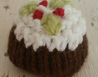 Christmas Pudding, knitting pattern, Lindt Lindor or Ferrero Rocher chocolate favour cover / cosy, PDF - Instant download