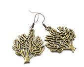 Tree charm bronze earrings