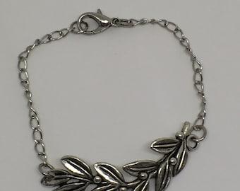 Olive branch,Olive leaf Olive branch bracelet, Olive branch with olives, Olive Branch Jewelry, Olive branch chain bracelet
